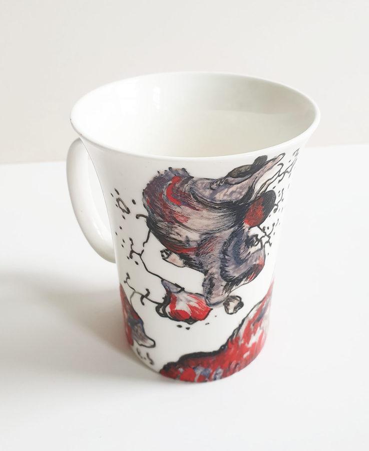 """Porceliano puodelis """"Vėjas plaukuose"""""""